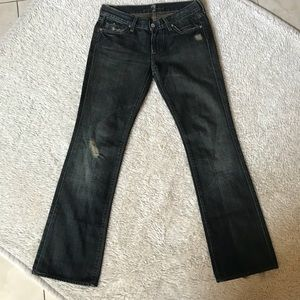 7 for all Mankind distressed denim jean size 27